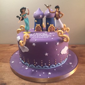 Alladin and Jasmine Birthday Cake